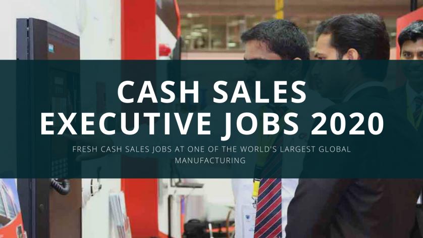 CEMEX Jobs 2020 - Cash Sales Executive new Jobs