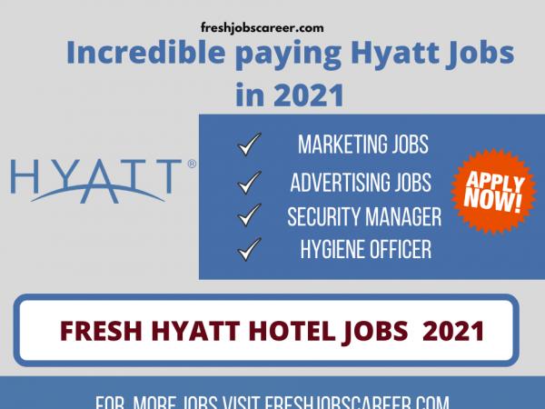 Hyatt Regency Jobs Latest and fresh