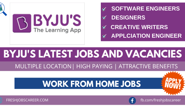 Byju Jobs and Career Vacancies Latest Openings