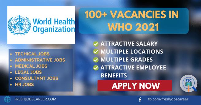WHO Jobs and Vacancies 2021 World Health Organization jobs
