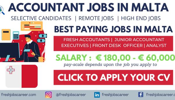 Accounting Jobs in Malta Latest Job Vacancies 2021