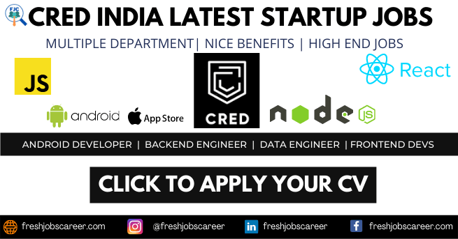 CRED Careers and Latest Cred Jobs Announcement